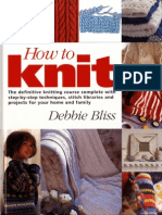 Knitting) Debbie Bliss - How to Knit