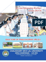 Ph.D. Revised Information Brochure 2015-16