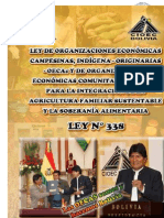 LEY 338 - BOLIVIA