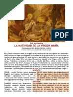 Natividad de La Virgen Maria 8 de Septiembre