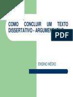 Concluso de Texto Dissertativo-Argumentativo
