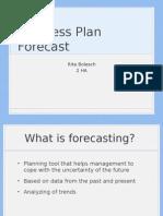 Busines Plan Forecast Bolesch