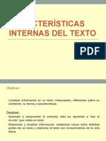 Características Internas Del Texto
