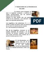 Costumbres y Tradiciones de La Provincia de Sullana