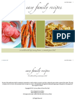 Easy Family Recipes Cookbook