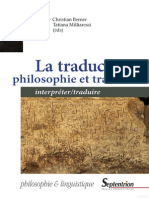 TRAD Philosophie Et Tradition