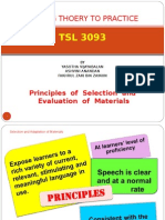 Principles in selecting materials