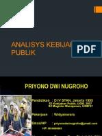 Analisys Kebijakan Publik 7 8 Mei 2015