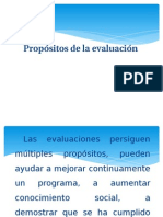 Propósitos de La Evaluación.