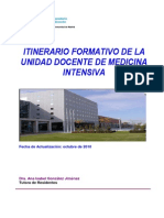 Itinerario Formativo Medicina Intensiva