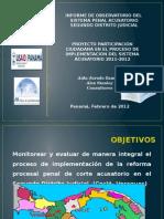 Informe - Sistema Penal Acusatorio 2012