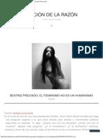 Beatriz Preciado_ El Feminismo No Es Un Humanismo _ Ficción de La Razón