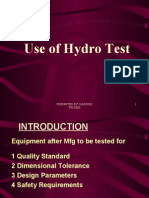 Use of Hydro test (G-10)