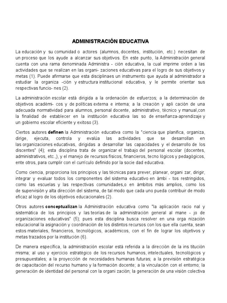 Perfecto Administración De Currículos Educativos Regalo - Colección ...