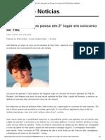 Jovem de 17 anos passa em 2° lugar em concurso do TRE _ Notícias JusBrasil