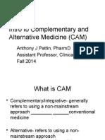 CAM Self-care Fall 2014 9.2.14