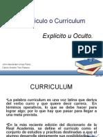 Curriculum Explicito y Oculto