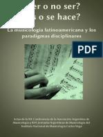 Actas Musicología Argentina Autores Varios