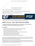 MIMO Formats