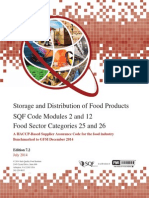 Storage and Distribution Code With Cover and Letter