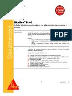Sellador Elastico Poliuretano Alta Resistencia Quimica Sikaflex Pro 3 Wf