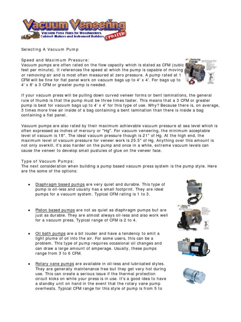 Diy Pump Based Vacuum Presspdf Gast Pumps Wiring Diagram