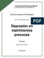 Depresion en Matrimonios precocez