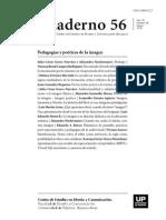 Cuaderno 56 Pedagogías y poéticas de la imagen