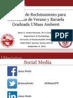UMassUPR Recruitment Seminar