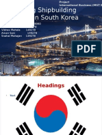Analysing Shipbuilding Industry in South Korea