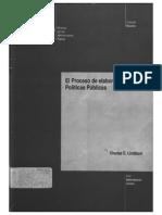 Lindblom. El Proceso de Elaboracion de Politicas Publicas