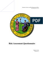 Risk Assessment Questionnaire