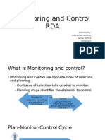 Monitoring and Control