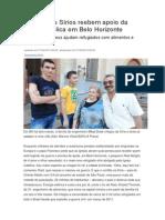 Refugiados Sírios Reebem Apoio Da Igreja Católica Em Belo Horizonte