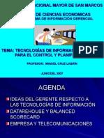 Sesión 6 Tecnologías de Informacionpara ElControl y Planificación