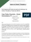 Caso Prático Resolvido – Direito Administrativo P1 « Placar Do Mestrado Em Direito Tributário e Fiscal