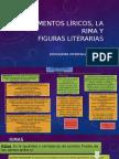 elementos líricos, las rimas y figuras literarias