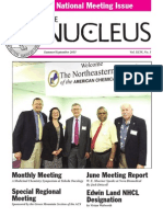 Northeastern Section of the American Chemical Society :Summer/Sept. Nucleus