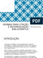 Normas Para Citação e Referenciação Bibliográfica