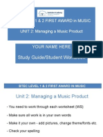 btec first award unit 2 study guide  student workbook