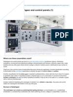 Assemblies of Switchgear and Contdahdasfrol Panels 1