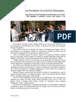 06.11.2013 Comunicado Eligen a Esteban Presidente de La Red de Municipios