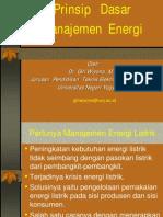 c Prinsip Dasar Manajemen Energi
