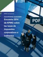 Encuesta 2014 de KPMG Sobre Las Tasas de Impuestos Corporativos e Indirectos