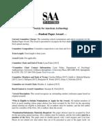 2014-2015 Award Committee Fact Sheet - Student Paper Award