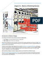 Medium Voltage Switchgear 1ggclh Basics of Switching Devices