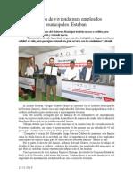 12.11.2013 Comunicado Créditos de Vivienda Para Empleados Municipales Esteban