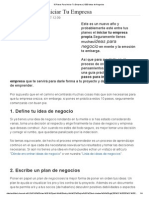 10 Pasos Para Iniciar Tu Empresa