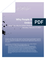 Why People Refuse to Embrace Islaam by Shadeed Muhammad