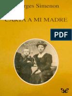 Simenon, Georges - Carta a Mi Madre